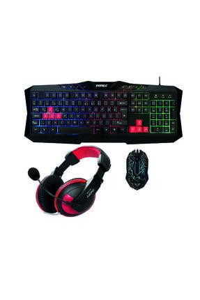 Rampage Gx-8844 Gamer Extreme Klavye Mouse Kulaklık Oyuncu 3'lü Set