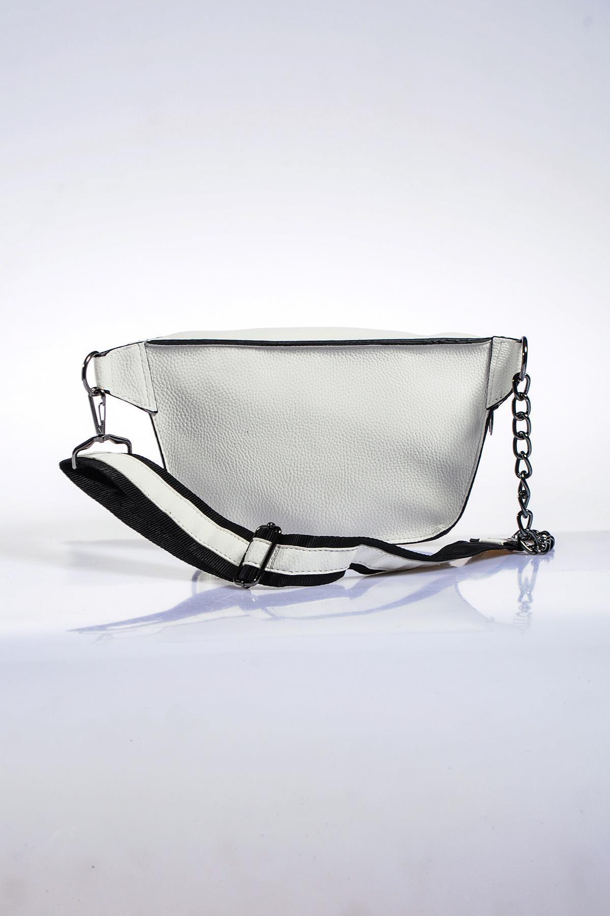 Sergio Giorgianni Kadın Beyaz Bel Çantası sg662-natural beyaz