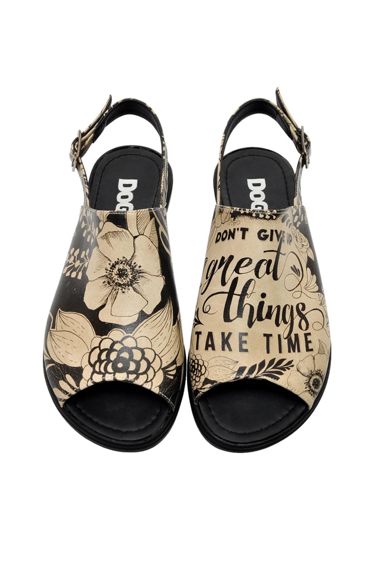 Dogo DonT Give Up Kadın Düz Sandalet dgs018-blm006 1