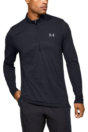 Under Armour Erkek Spor T-Shirt - Seamless 1/2 Zip - 1351452-001