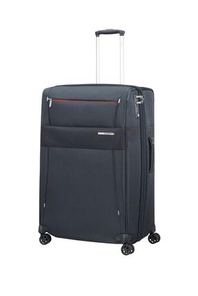 Samsonite Mavi Unisex Duopack - 4 Tekerlekli Körüklü Tek Bölmeli Kabin Boy Valiz 55Cm 54021