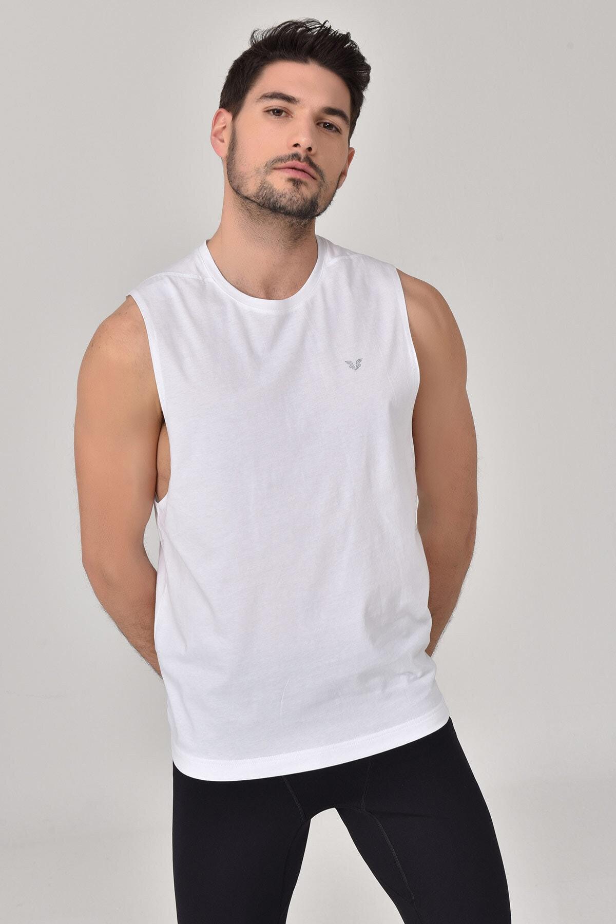 bilcee Beyaz Erkek Örme Atlet GS-1622 1