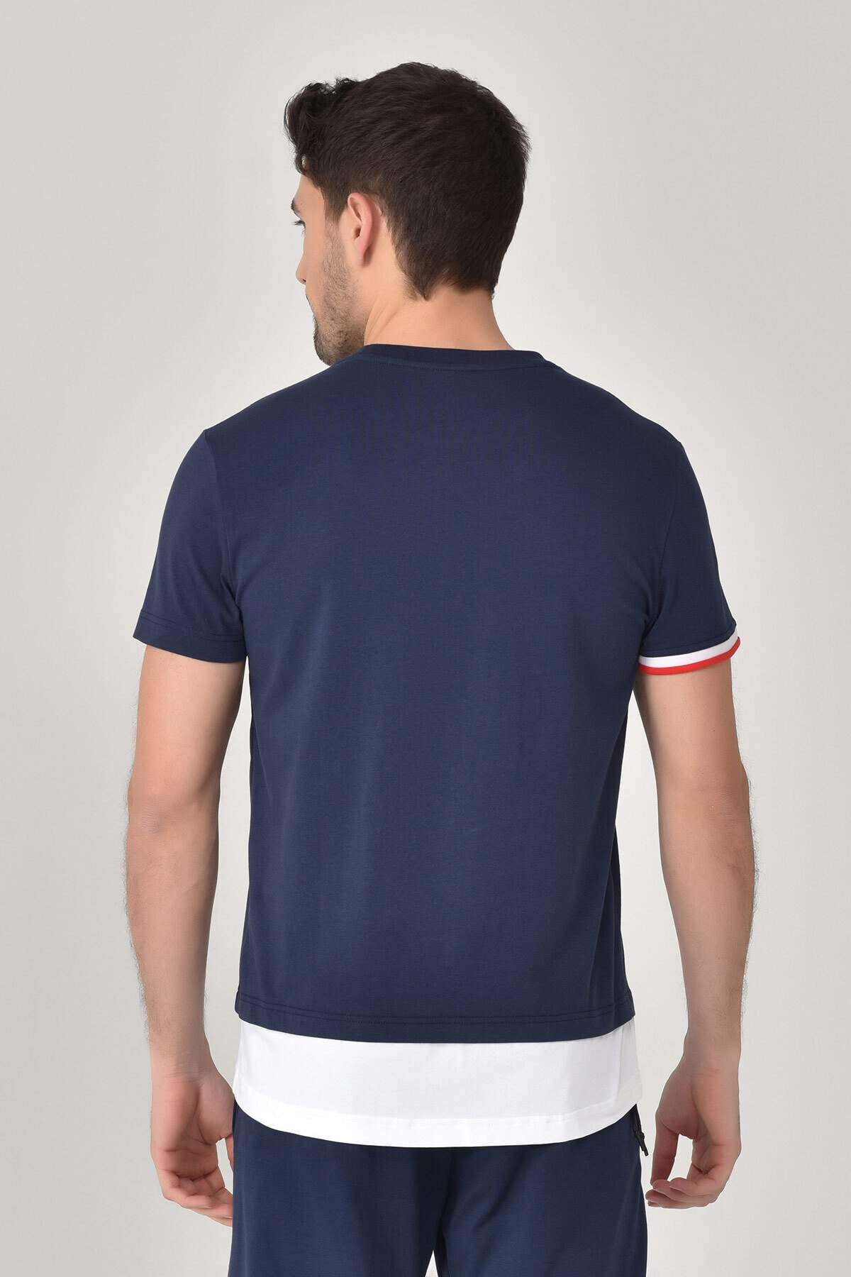 bilcee Lacivert Erkek T-Shirt GS-8887 2