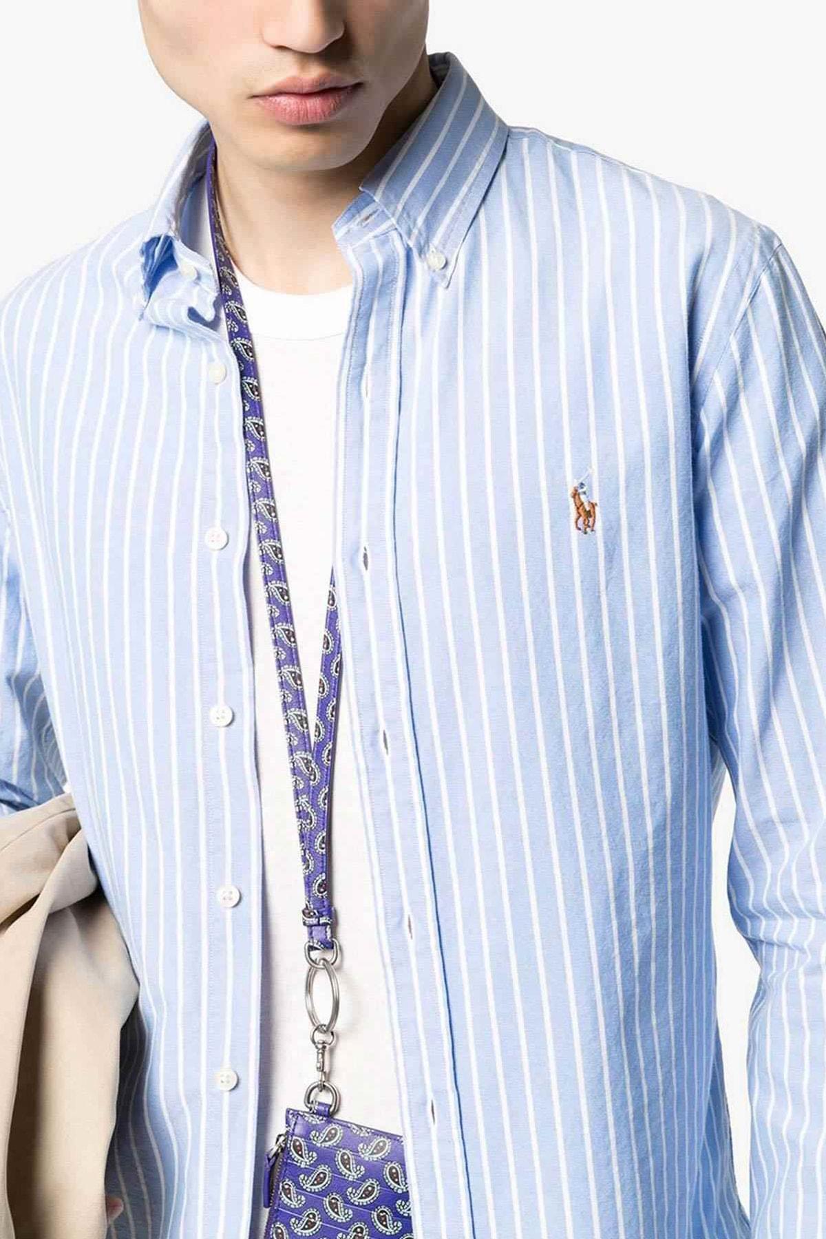 Polo Ralph Lauren Erkek Mavi Gömlek 4483975217204 1