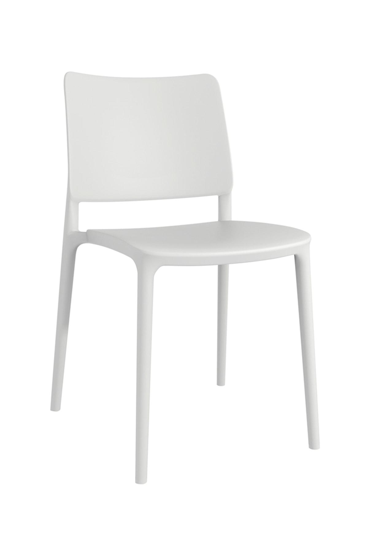 Papatya Joy Sandalye Beyaz - Mutfak Sandalyesi - Kolçaksız
