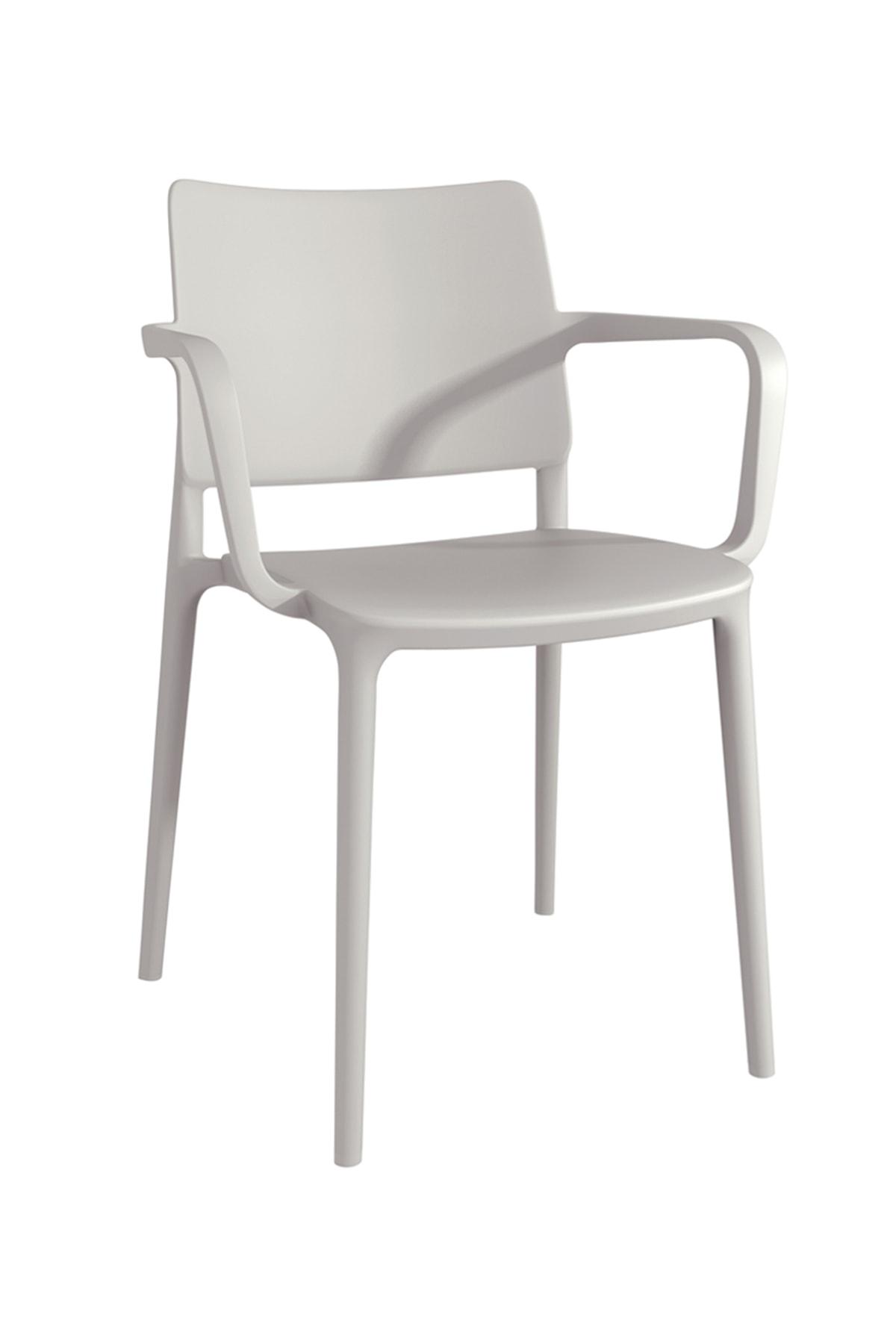 Papatya Joy Koltuk Açık Gri - Mutfak Sandalyesi - Kolçaklı