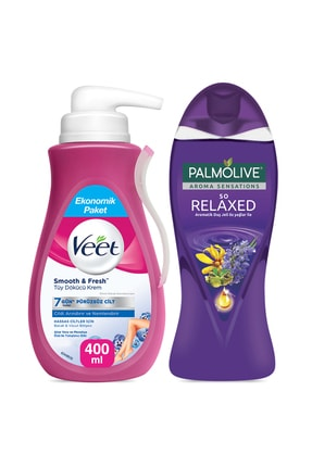 Veet Tüy Dökücü Krem400 ml+Palmolive Aroma Sensations So Relaxed Aromatik Duş Jeli 500 ml