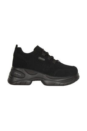 MP Siyah Kalın Taban Günlük Bayan Spor Ayakkabı Mp 201-305zn