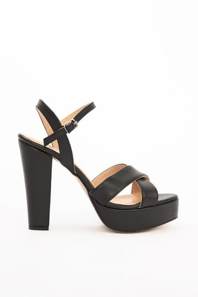 Gökhan Talay Siyah Kadın Klasik Topuklu Ayakkabı 13980101