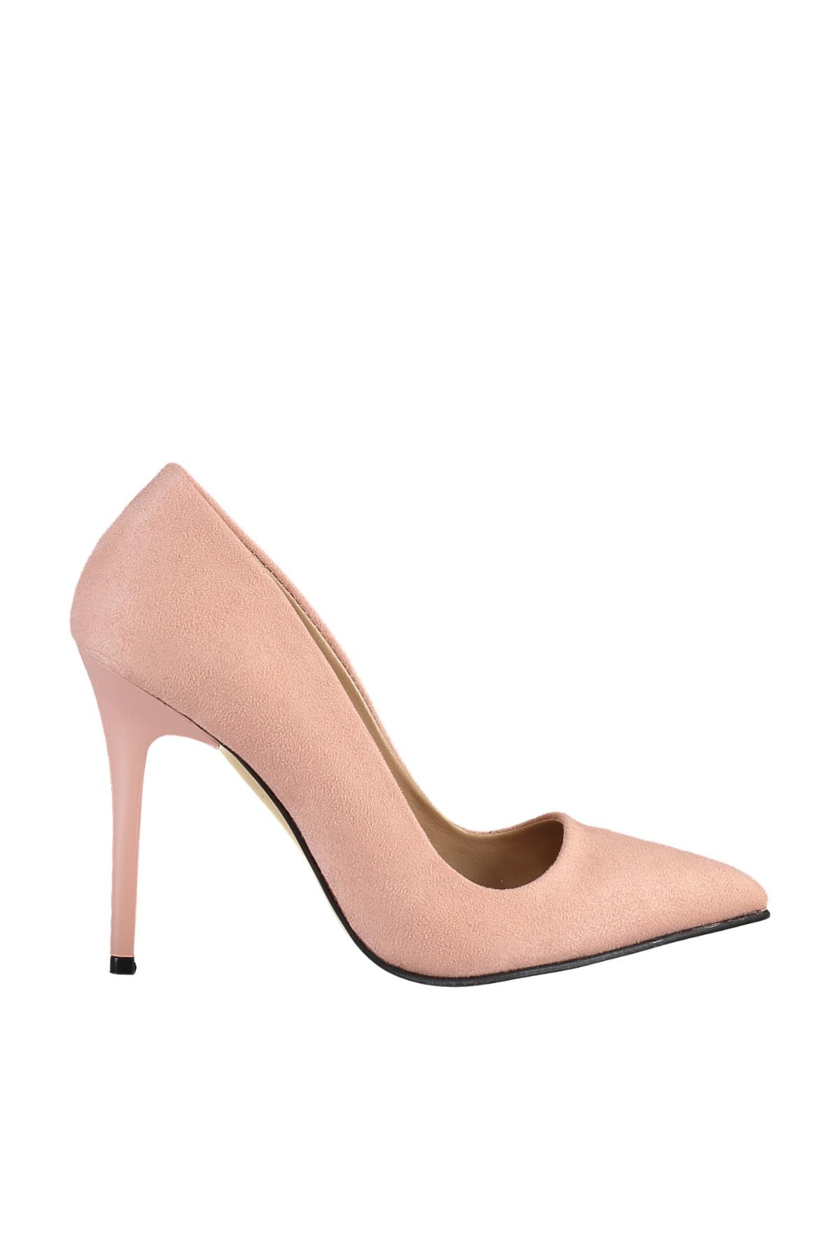 SOHO Pudra Suet Kadın Klasik Topuklu Ayakkabı 2