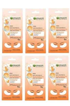 Garnier Nem Bombası Göz Altı Torbalarına Karşı Kağıt Göz Maskesi 6 Lı Set 36005421548022