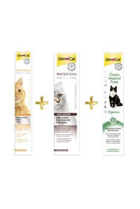 Gimcat Multivitamin Paste 100gr + Anti-hairball Malt 100gr + Sindirim Destekleyici 50gr