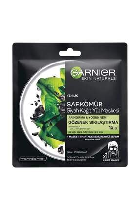 Garnier Siyah Yosunlu Gözenek Sıkılaştırıcı Kağıt Yüz Maskesi 3600542097178 C6