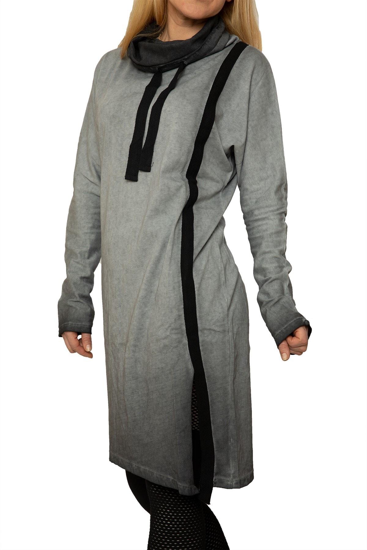 Rockupy Kadın Gri Asimetrik Elbise 2