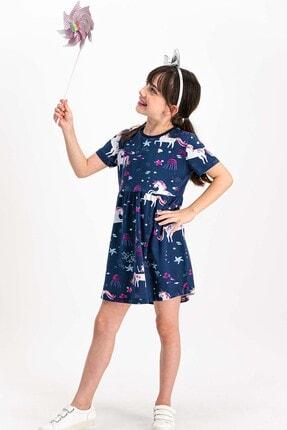 ROLY POLY Unicorn Lacivert Kız Çocuk Homewear Elbise