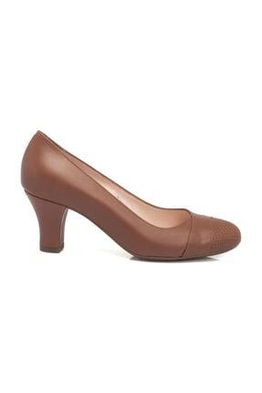 Tergan Hakiki Deri Taba-Analin Kadın Klasik Topuklu Ayakkabı K19I1AY64191