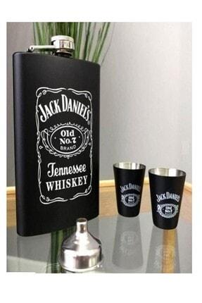 BUSSO Jack Daniel's Cep Içki Matarası Ve Shot Bardağı Seti