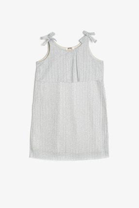 Koton Kids Gümüş Kız Çocuk Elbise