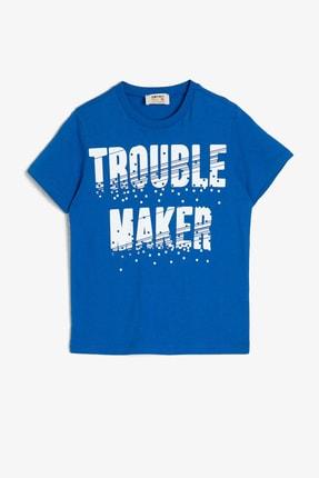 Koton Kids Saks Mavisi Erkek Çocuk T-Shirt