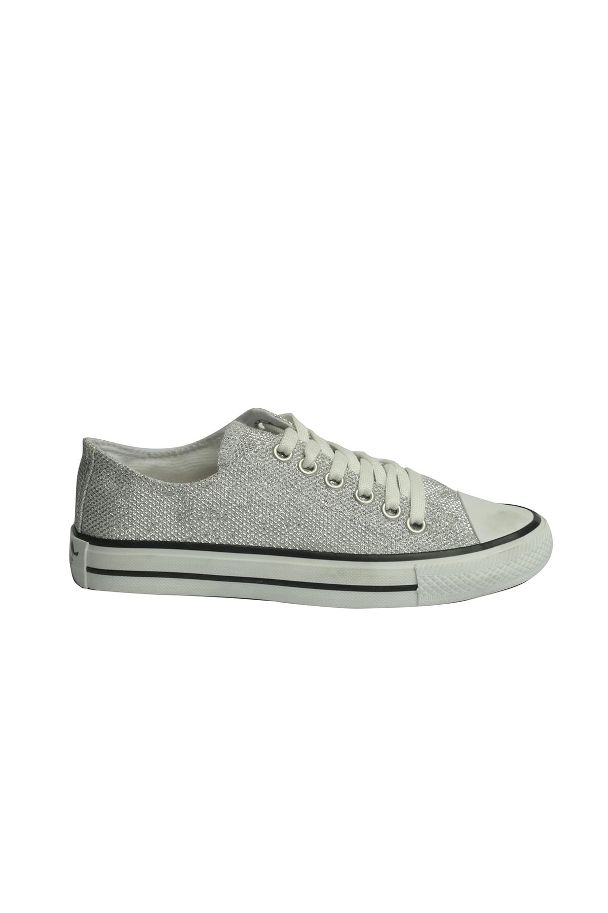 ESPARDİLE Gümüş Kadın Spor Ayakkabı 2