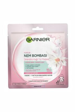 Garnier Hassas Ve Kuru Ciltler Için Nem Bombası Dinlendirici Kağıt Yüz Maskesi grs45482502365