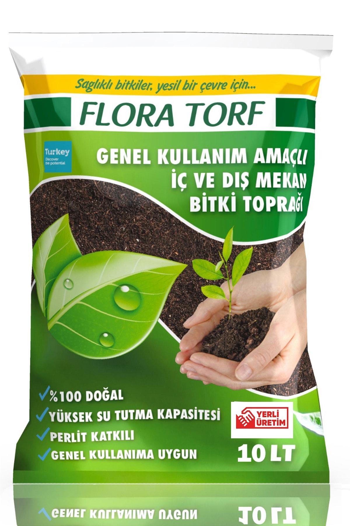 MF Botanik Flora Torf Saksı Çiçek Toprağı Perlit Katkılı 10 Litre Toprak 1