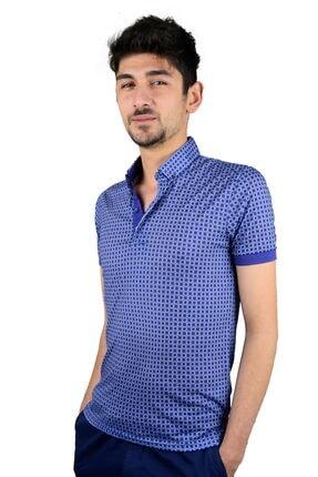 Mcr T-shirt Mavi Gömlek Yaka Kareli Model 36485