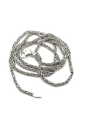 Erer Gümüş 2,2 mm Gümüş Ince Kral Zinciri Kolye Tk232