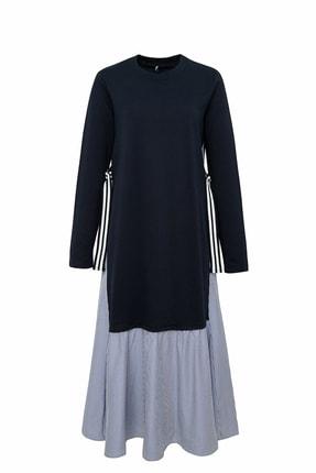 DeFacto Kadın Modest Lacivert Regular Fit Örme Elbise R2598AZ.20SM.NV125