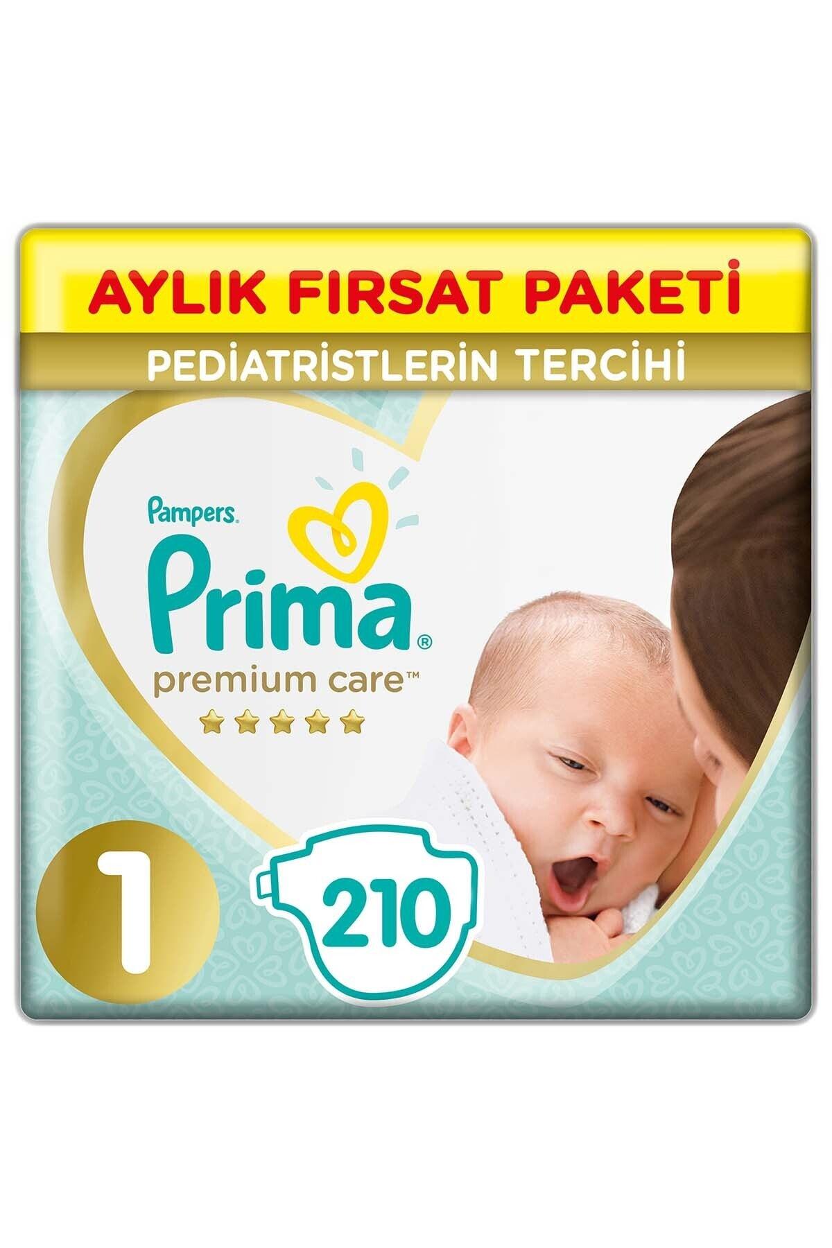 Prima Bebek Bezi Premium Care 1 Beden 210 Adet Aylık Fırsat Paketi 1