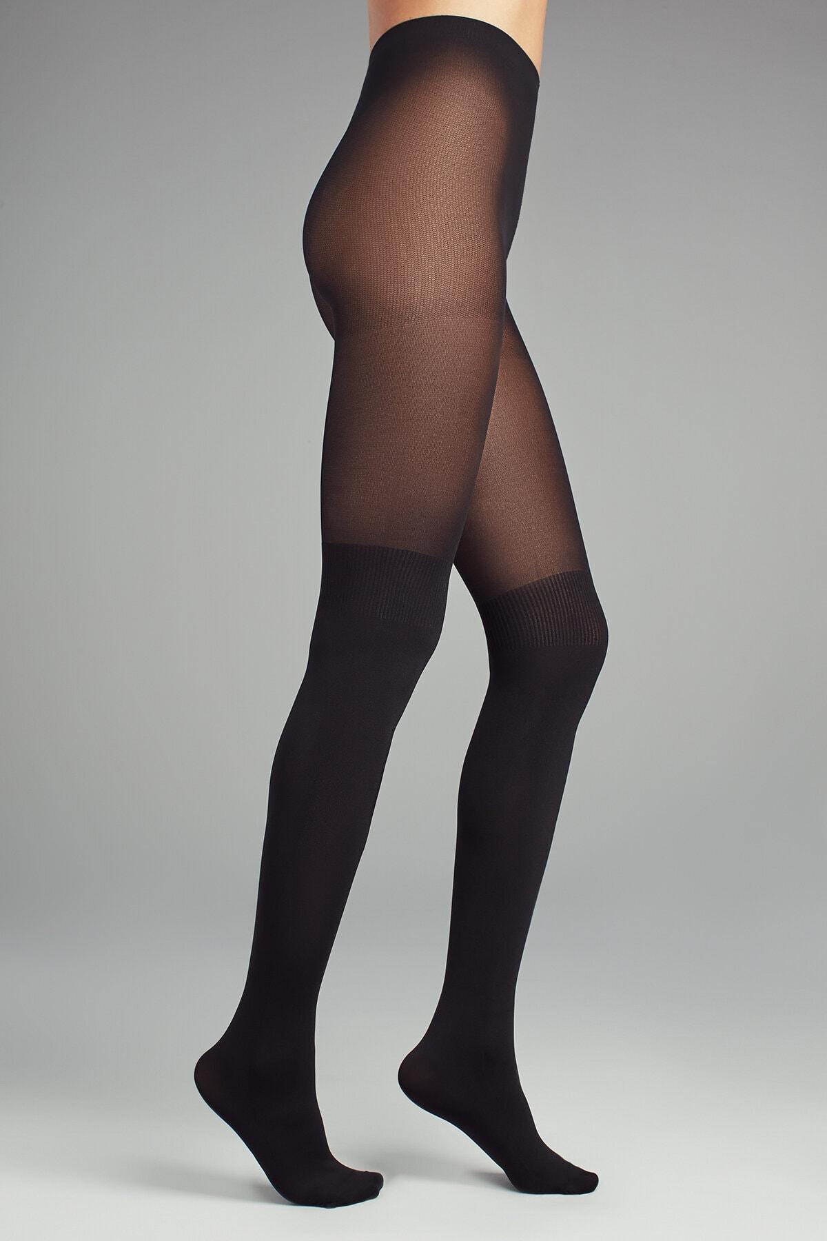 Penti Kadın Siyah Over Knee Külotlu Çorap