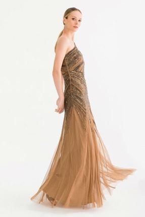 adL Kadın Bronz Boncuklu Elbise 12437908000092