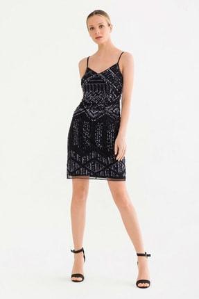 adL Kadın Siyah Askılı Elbise 12437904000001