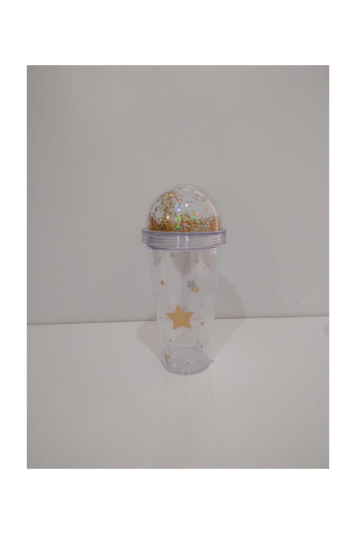 Cooker Yıldızlı Akrilik Bardak 380 Ml-milkshake Bardağı 1