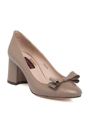 Tergan Deri Vizon Kadın Ayakkabı 64332G49