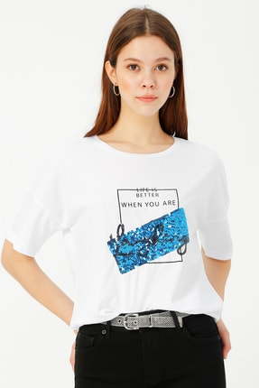 LİMON COMPANY Bisiklet Yaka Tişört