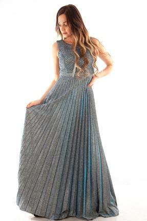 Ardanewline Kadın Turkuaz Abiye & Mezuniyet Elbisesi 1301354-10