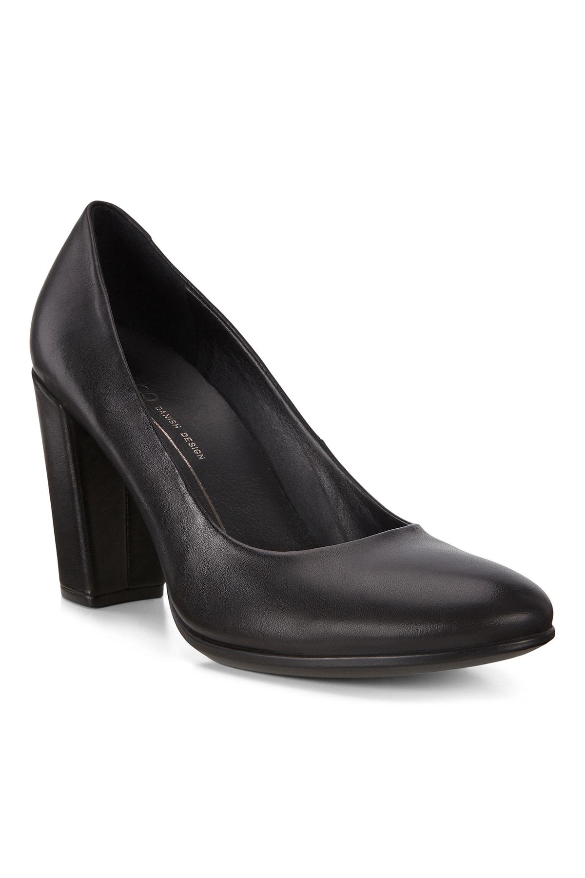 Ecco Kadın Klasik Topuklu Ayakkabı Shape 75 Block Black Siyah 260833