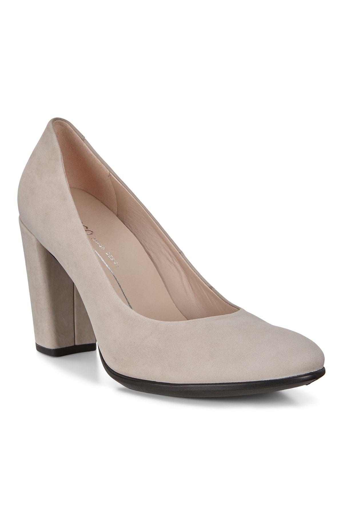 Ecco Kadın Klasik Topuklu Ayakkabı Shape 75 Block Grey Rose Bej 260833