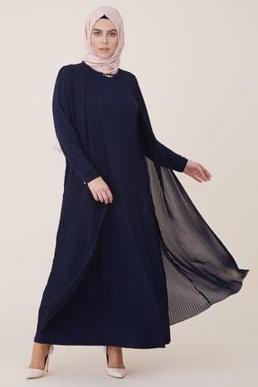 Armine Pilisoley Detaylı Abiye Elbise Lacivert 9y3308