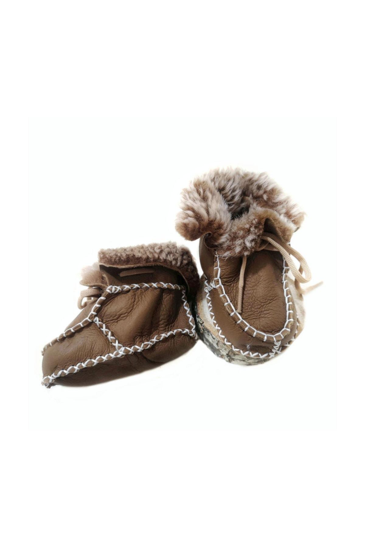 Onten Hakiki Deri Bebek Patik Ilk Adım Ayakkabısı 1
