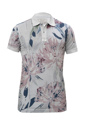 Lufian Erkek Taş Alekto Vintage Polo T- Shirt 111040008100190