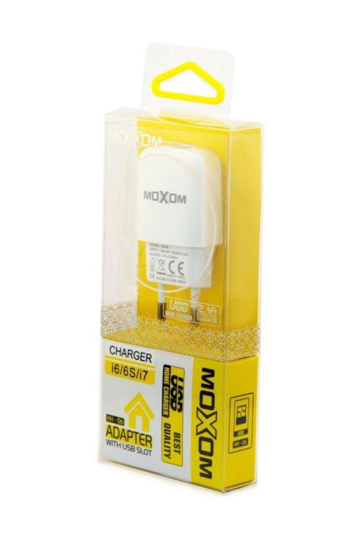 MOXOM Iphone 5 6 7 8 X Ipad Uyumlu Şarj Aleti 2.1 Amper Hızlı Şarj Seti 1
