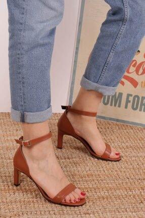 Mio Gusto Carrie Taba Tek Bantlı Sandalet