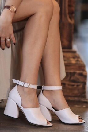 Mio Gusto Daisy Beyaz Topuklu Ayakkabı