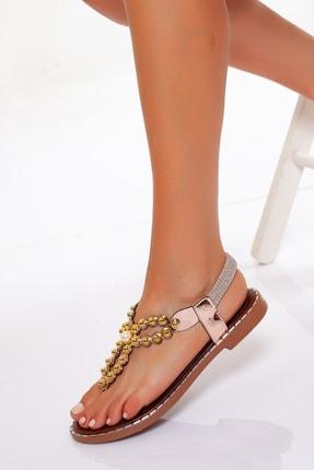 Marla Karen Shiny Dore Inci Kadın Sandalet