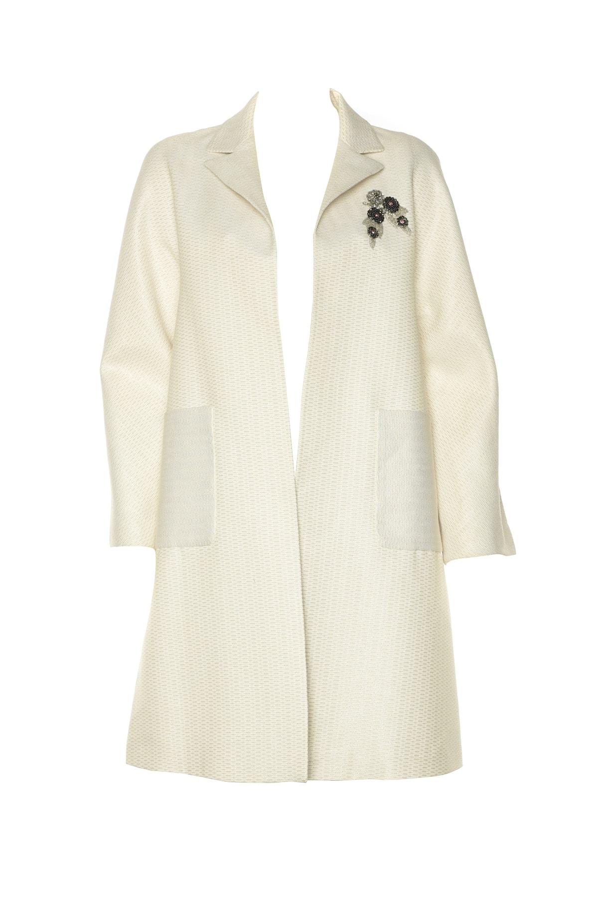 İpekyol Kadın Beyaz Pardesü IS1190011037 1