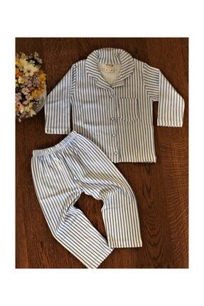 BEKA Erkek Çocuk 4-5-6 Yaş Önden Düğmeli Çizgili Pijama