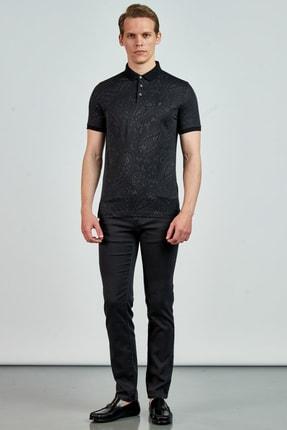 Giovane Gentile Erkek Siyah T-Shirt LB0650201895