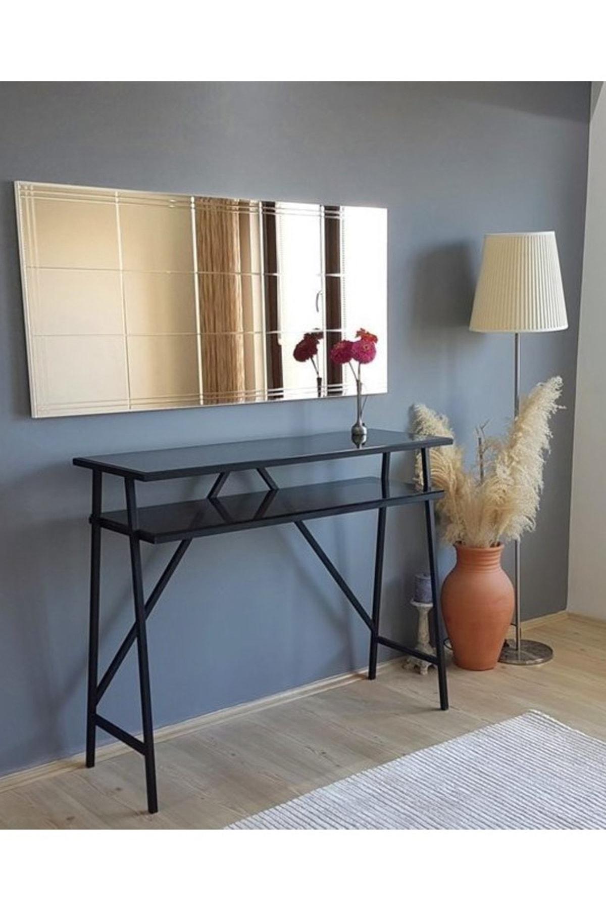 Vivense Neostill-Bronz Ayna Dekoratif Desenli Duvar Salon Konsol A308-Y 2